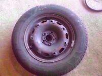 *WHEEL 1* MK5 VW POLO SKODA FABIA SEAT IBIZA STEEL WHEEL WITH GOOD TYRE 5X100 175/70/R14