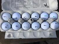 12 Nike Golf Balls
