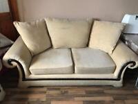 Sofa 3 + 2 seater cream fabric