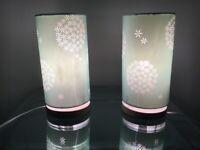 Light teal bedside lamps