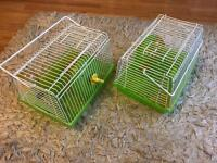 2x small cage for baby hamster
