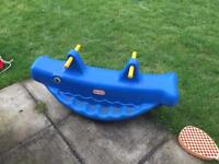 Little tikes whale see saw