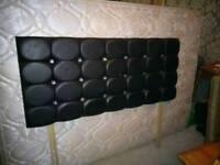 Double divan headboard and mattress