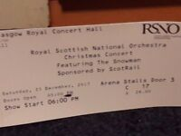 RSNO Christmas Concert: The Snowman 2 x Tickets