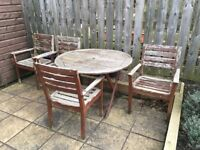 Free Hardwood garden furniture for upcycling