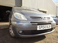 04 CITROEN PICASSO 1.6,MANUAL,METALLIC GREY,MOT MARCH 017,PART HISTORY,GREAT RELIABLE TRANSPORT