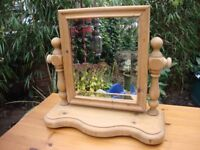 Quality,Solid Pine,Bevel Edge,Dressing Table Mirror.