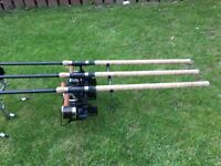 3 x Free Spirit 12ft Hi S IVE Carp Rods Full Cork Handles 50mm Rings