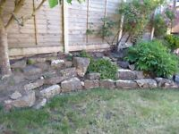 Rockery stones including some large stones