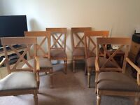 Dining Chairs (Ethan Allen) x 6 includes 2 carvers