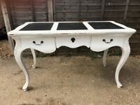 Shabby Chic Table with 6 drawers