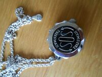 SOS Talisman with sterling silver chain
