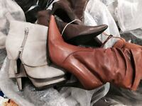 Very good quality of second hand women high heels shoes and boots, £1.50 a kilo