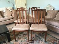 Four Vintage / Retro Teak G Plan Dining Room Chairs