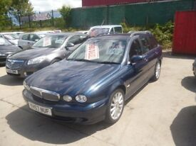 Jaguar X-TYPE S-D,1998 cc Estate,2 owners,2 keys,half leather interior,tow bar fitted
