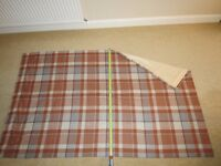 Door Curtain 'Ginger Rustic Woven Check' material from Next