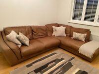 Leather corner sofa £50