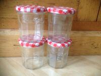 empty Bonne Maman jam jars 300ml / 11oz