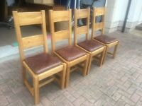 Solid Oak large table and chairs