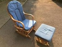 Free !!! Rocking Chair with Rocking Foot Stool