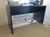 Desk, and Computer side table, by IKEA, black