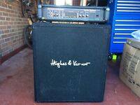 Hartke 200W Bass Amp and Hughes and Kettner 1 x 15 bass cab