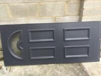 PVC door panel dark grey