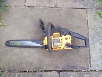 """McCulloch 338 Chainsaw - 14"""" Bar - needs a part to get working perfectly again"""