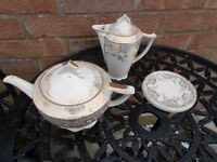 Vintage china tea pot & water jug - sold subject to collection
