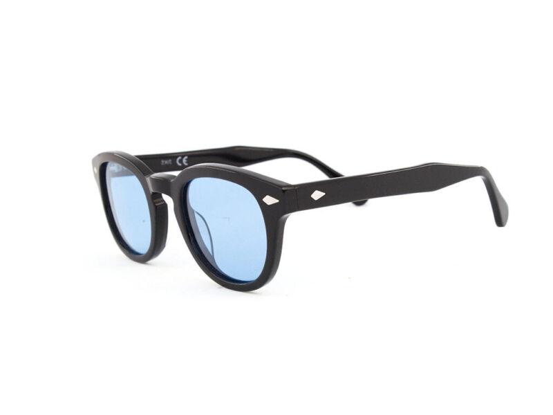 Occhiali da sole X-LAB 8004 stile moscot polarizzato nero azzurro