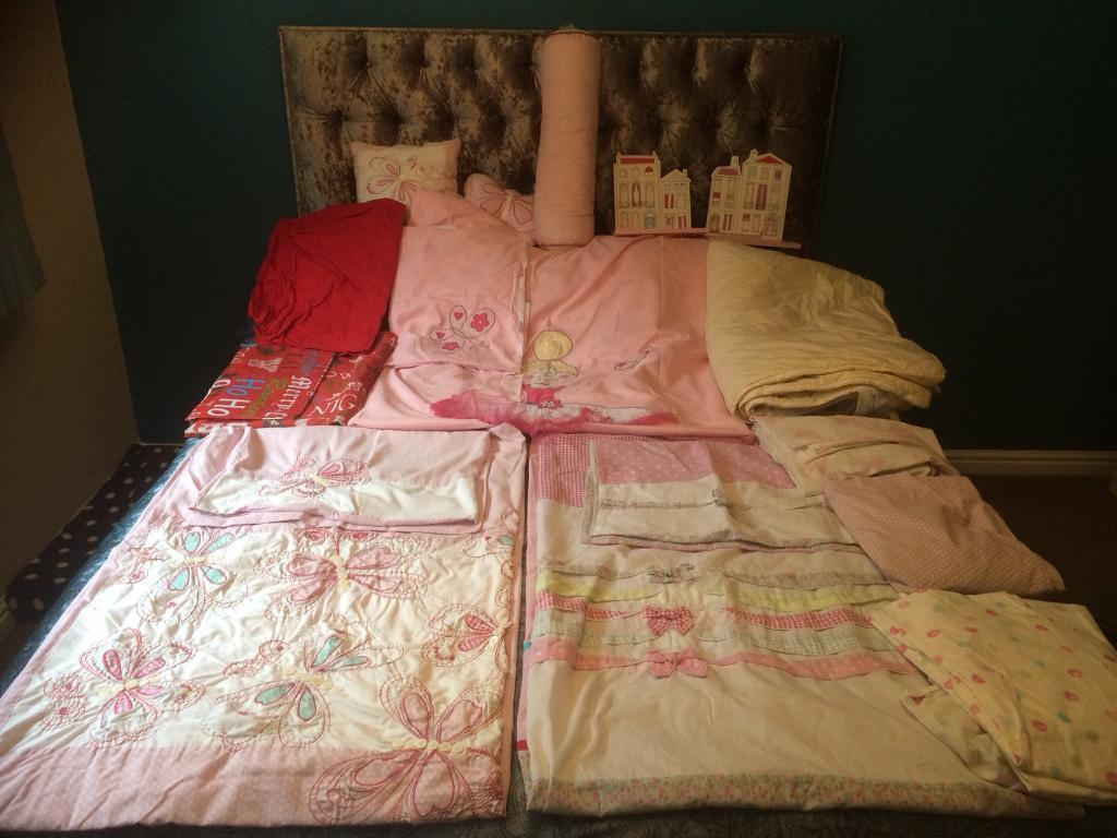 Girls single bedding bundle
