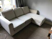 DFS 3 seater cream fabric sofa need gone ASAP