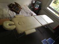 Portable massage table used