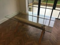 John Lewis Glass Top Dining Table (Lydia)