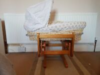 Moses basket and crib.sold togerher or seperate