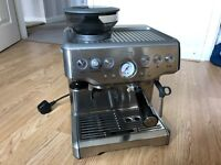Sage Barista Express Coffee Machine - bean to cup, excellent condition, boxed with all accessories