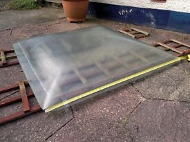 One Pair (x2) of 4ft Solid Domed Glass Skylights.