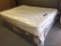 Double bed with storage draws & mattress new