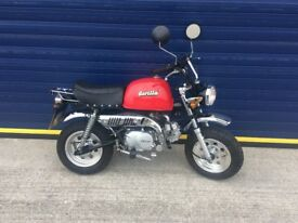 2015 SKYTEAM GORILLA 125cc MONKEY BIKE , 12 MONTHS MOT , VERY QUICK , JUST 200 MILES FROM NEW