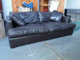 Brown leather 3 seater couch in excellent condition. no rips, tears or signs of wear. delivery can