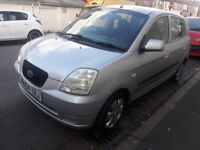SILVER 2004 KIA PICANTO WITH LOW GENUINE MILEAGE AND 1 YEAR'S MOT....
