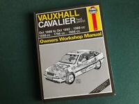Haynes Workshop manual for Vauxhall Cavalier 1988-92