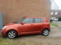 New Mot, Suzuki, SWIFT, 1.6 petrol Hatchback, 2008, Manual, 1490 (cc), 5 doors