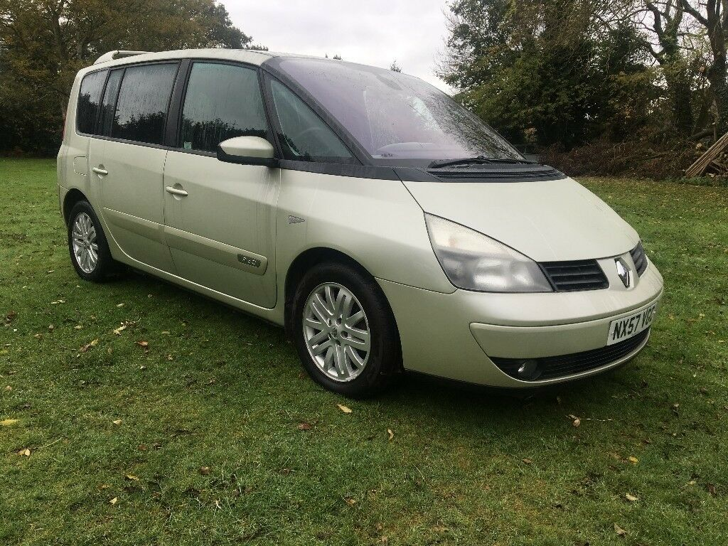 renault espace diesel 1 9 dci 7 seats sat nav cambelt full history 1 former owner 2 keys mot 06. Black Bedroom Furniture Sets. Home Design Ideas