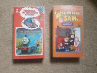 VHS Thomas the tank engine and friends- the deputation (1986)Fireman Sam lost cat (1985)