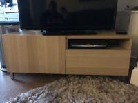 Ikea BESTÅ TV Cabinet in Light Oak Laminate