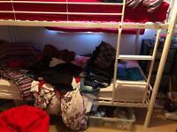 Single white kidspace metal bunk bed