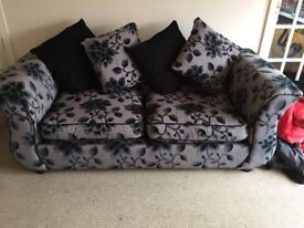 DFS 3 seater sofa bed and swivel chair