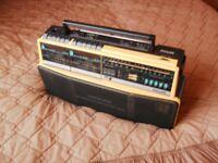 Phillips Portable radio/Twin Tape Deck.