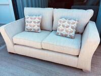 Cream fabric 2 seater sofa (New ex display)
